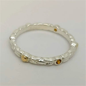 Citrine 14ky Sterling Ring by Andy Olive