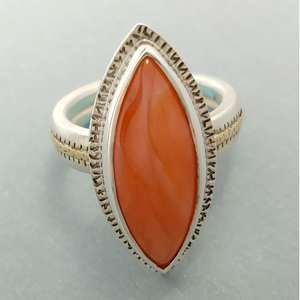 Carnelian Sterling & 14KY Ring by Lori Braun