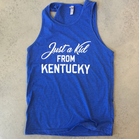 Just a Kid from KY Unisex Tank - Royal Blue