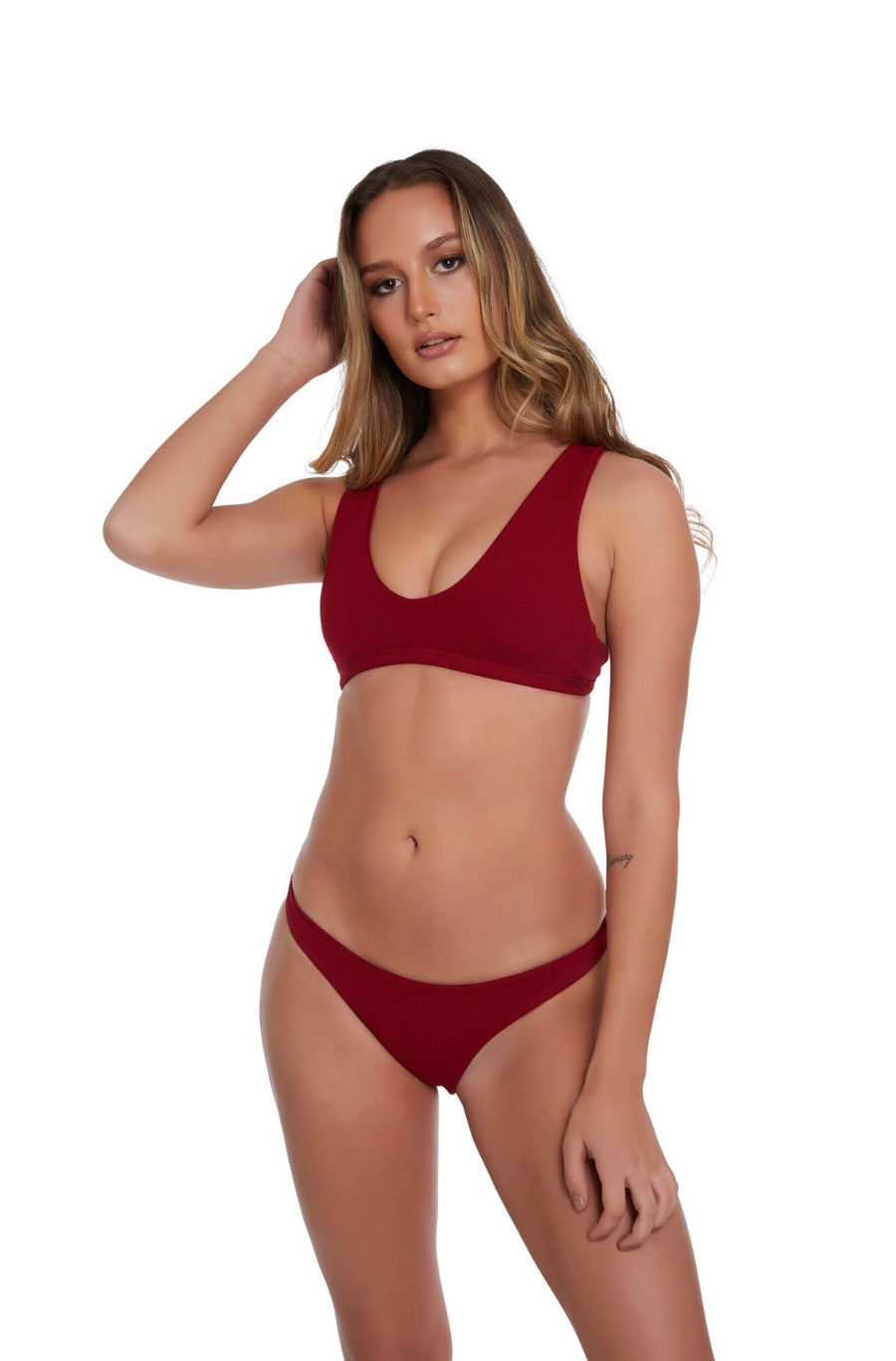 Sophie in Sangria Red
