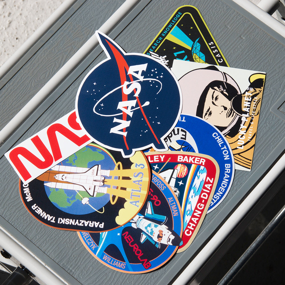 [Lucky Planet] Removable Luggage Reform Stickers - NASA 12PCS - Luckyplanetusa