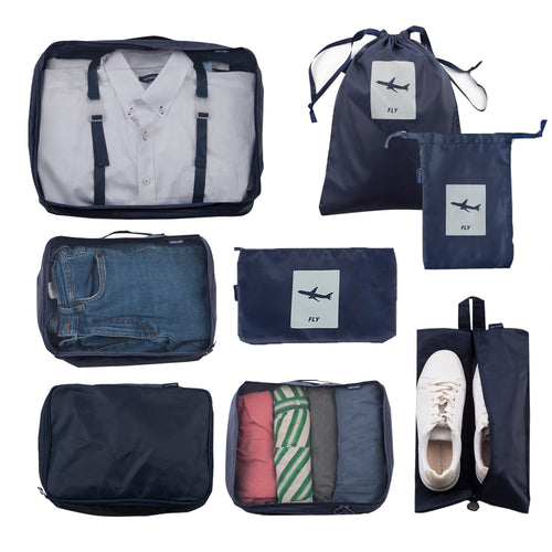 [Lucky Planet] FLY All in one Travel Pouch 8 PCS Set Organizers