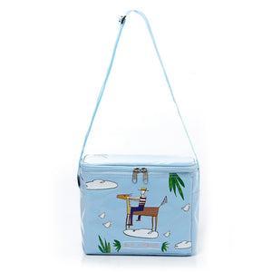 [Lucky Planet] Peter on the Cloud Waterproof Soft Cooler Bag with Zipper Closure - Sky Blue