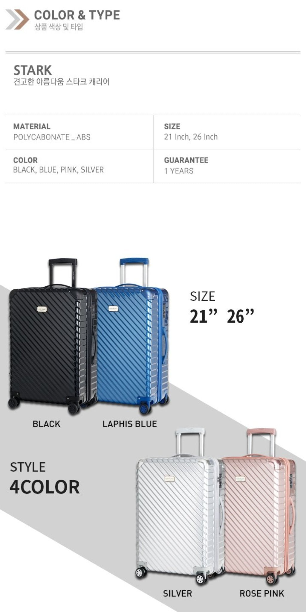 [Lucky Planet] Stark 26-inch Luggage - Luckyplanetusa