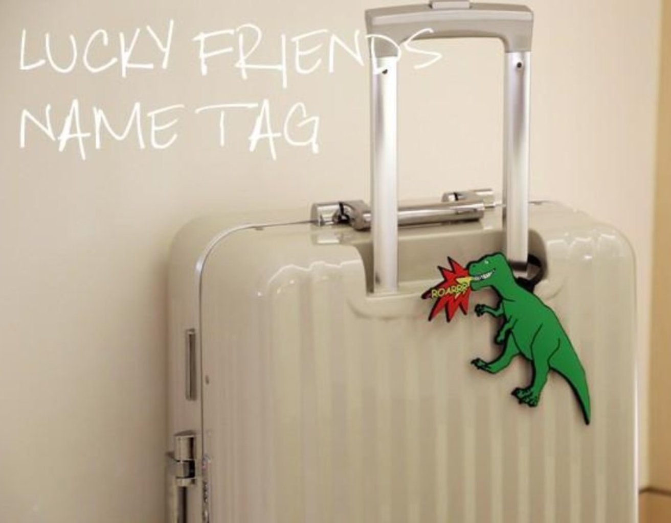 [Lucky Planet] Lucky Friends Dino Luggage Name Tag - Luckyplanetusa