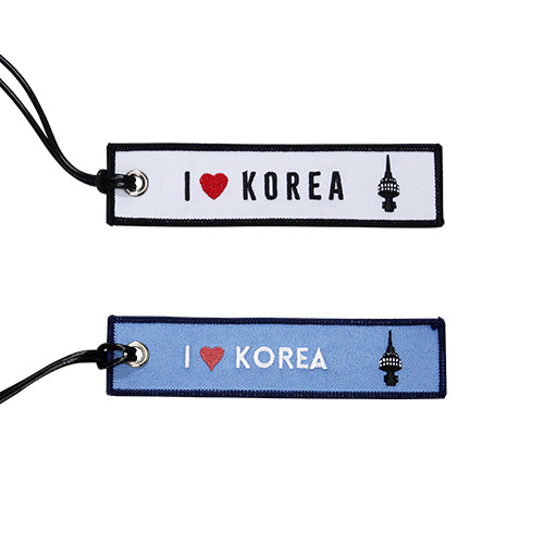 [Lucky Planet] Embroidered  Luggage Name Tags - I Love Korea