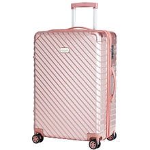 "Luxury travel luggage 21""+ 26"" 2PCS set -4 Double wheels/TSA LOCK/Ultra light/Expandable- PINK"