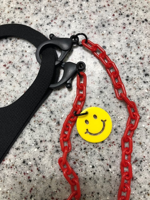Smile Mask chain Holder- Mask Lanyard / Anti-lost / Hand made Chain strap- STAY SMILE