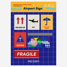 [Lucky Planet] Removable Luggage Reform Stickers - Airport Sign 7PCS - Luckyplanetusa