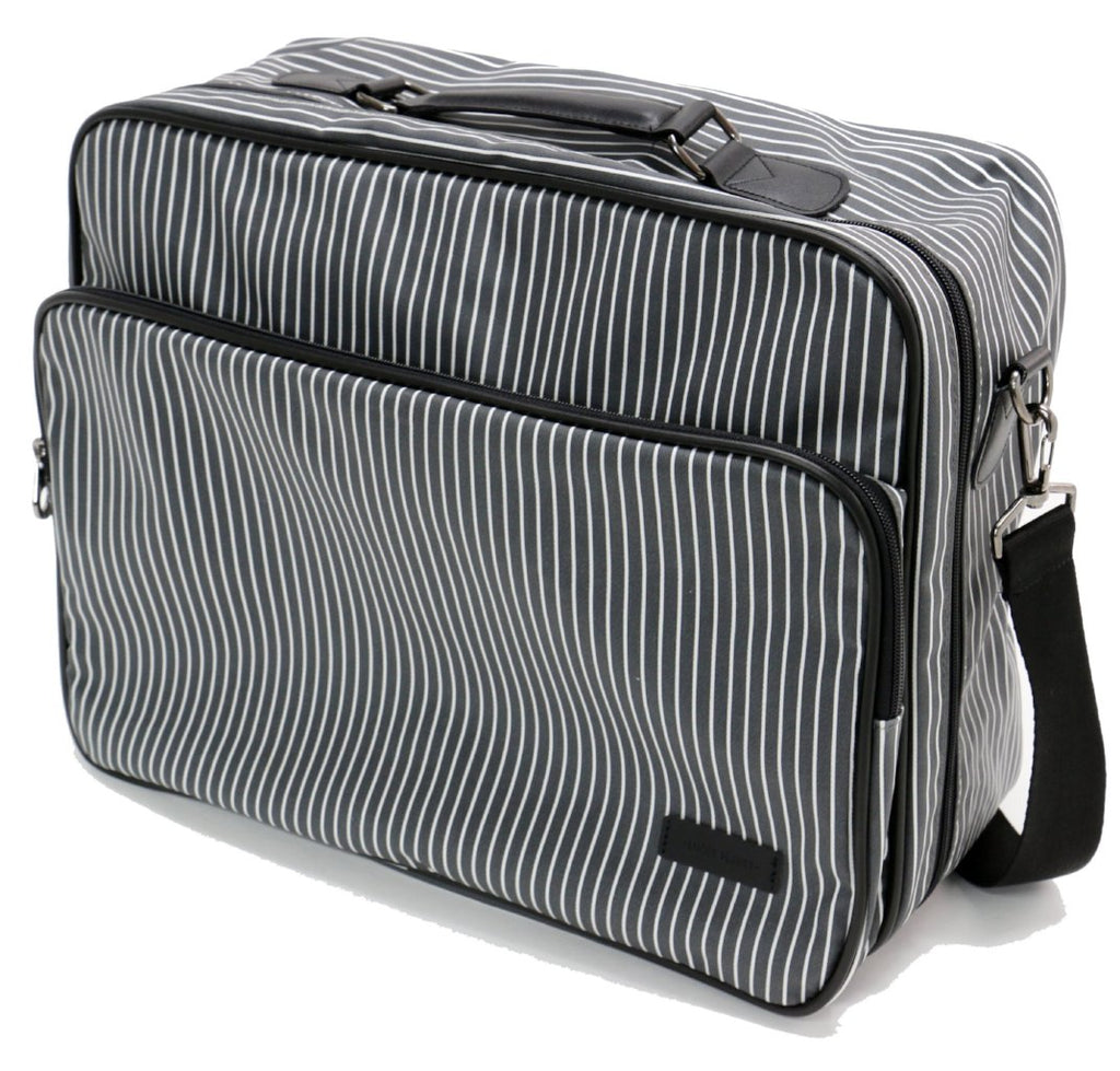 [Lucky Planet] Stripe Boston Travel Duffel Bag - Large - Luckyplanetusa
