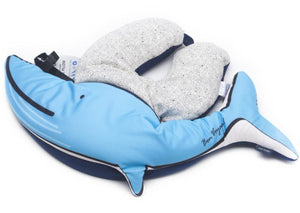 [Lucky Planet] Bon Voyage 2 in1 Travel Head Rest Neck Pillow _Whale - Luckyplanetusa