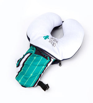 LUCKY PLANET 2 in 1 Travel Neck Pillow Cushion -Cactus Transform to Neck Cushion/Luggage Holding