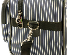 [Lucky Planet] Stripe Boston Travel Duffel Bag - Small - Luckyplanetusa