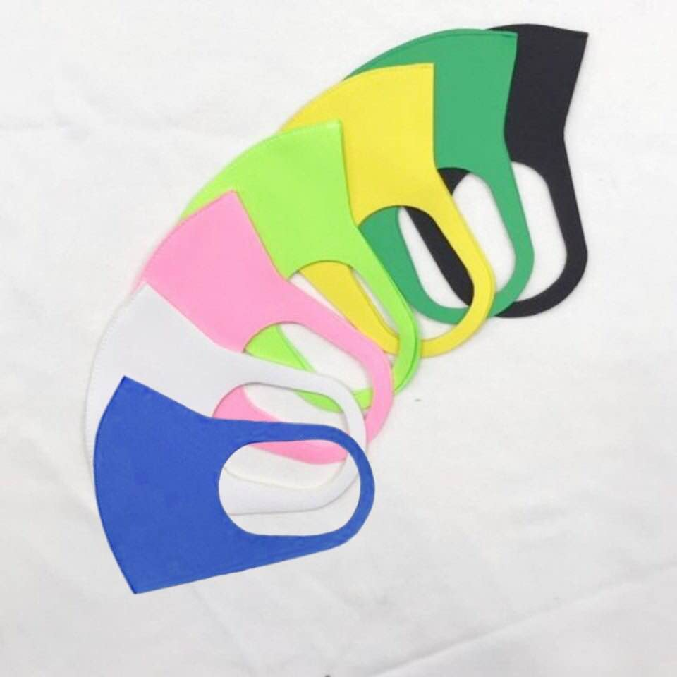 Reusable Antibacterial Fabric Face Mask 3D Pattern/UV Protect/Quick Dry/4 size, 7 color