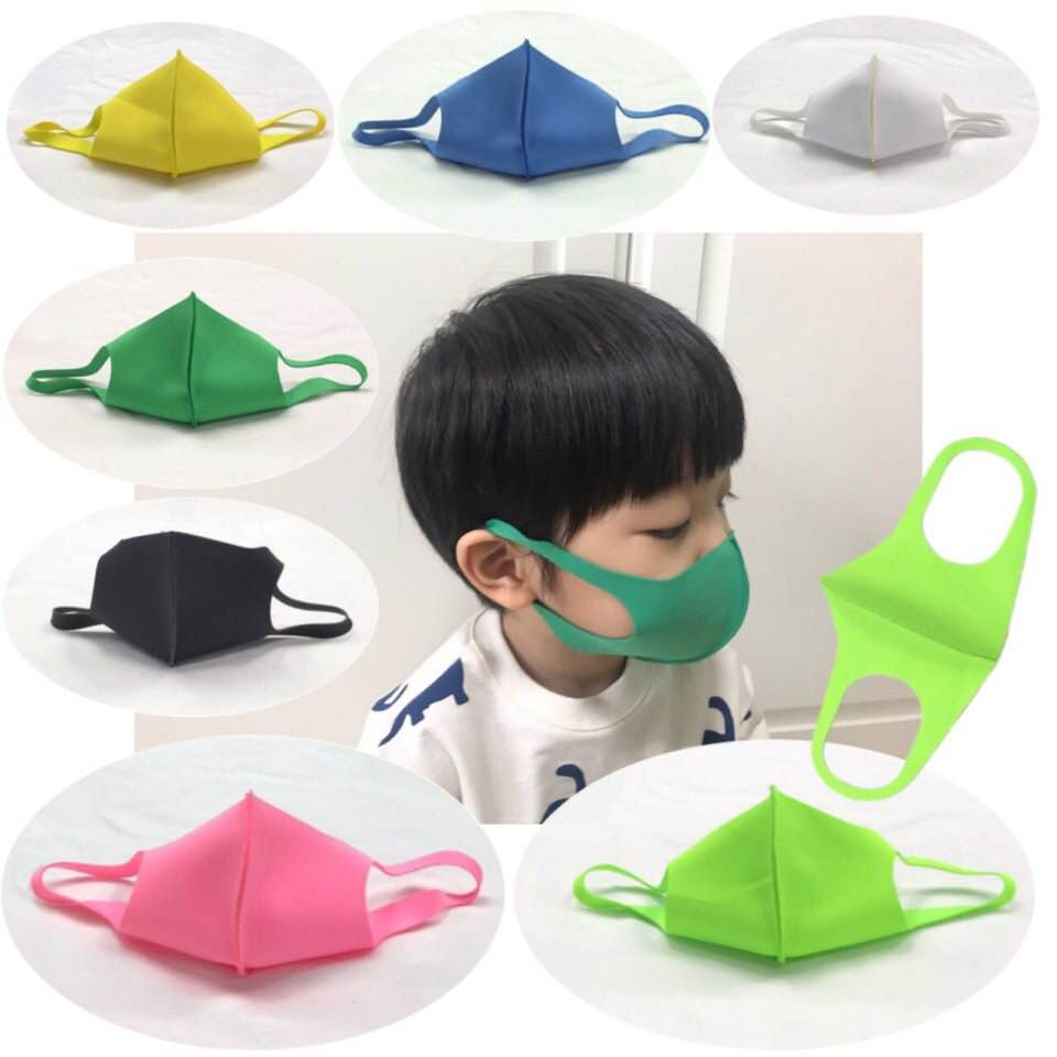 Reusable Antibacterial Fabric Non-Medical Face Mask 3D Pattern/UV Protect/Quick Dry/4 size, 7 color