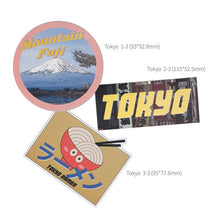 [Lucky Planet] Removable Luggage Reform Stickers - Tokyo City
