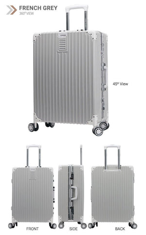 [Lucky Planet]  Edge 26-inch Luggage - French Gray - Luckyplanetusa