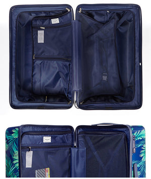 [Lucky Planet]  Leaf Pattern  Hard Case PC Luggage/ suitcase Set - 21+26+30 inch Full set