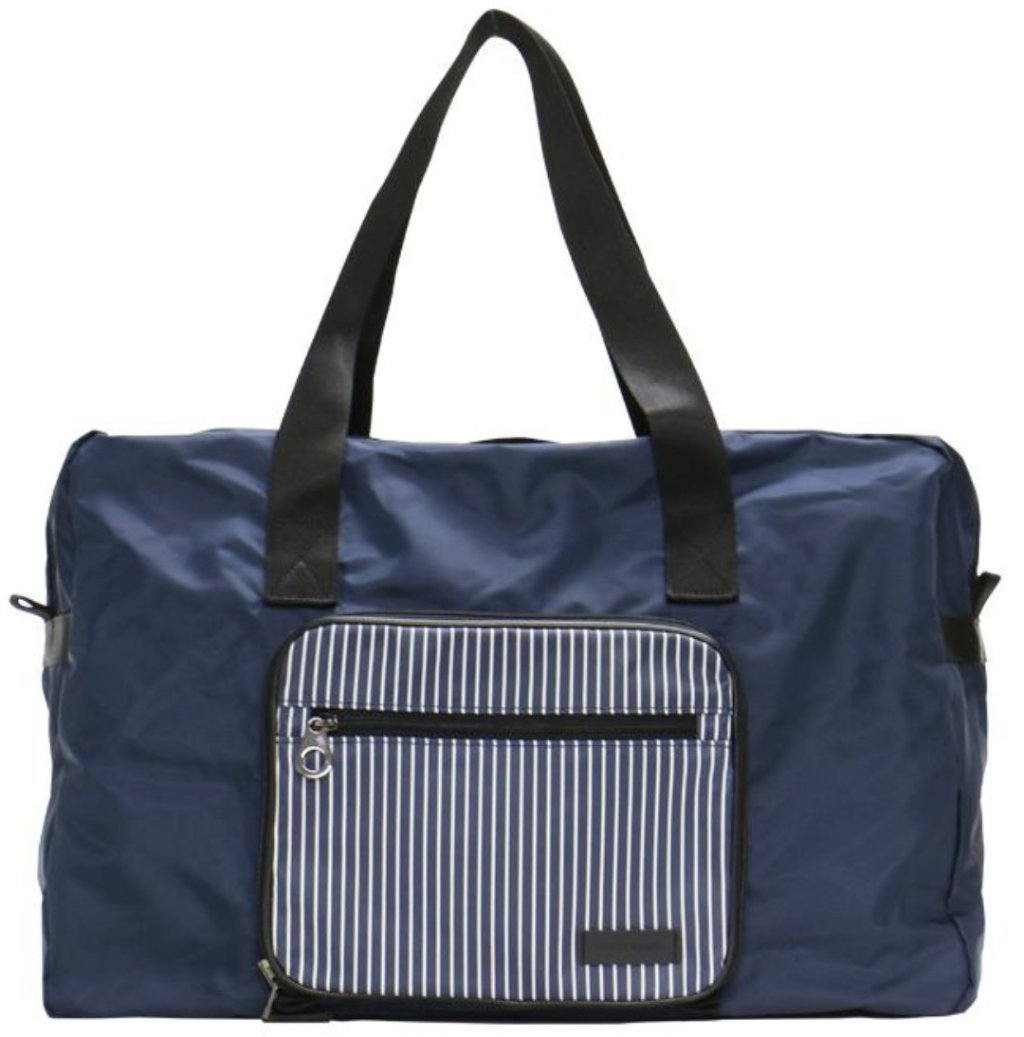 [Lucky Planet] Stripe Foldable Boston Travel  Duffel Bag - Luckyplanetusa
