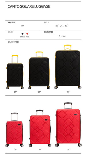 [Lucky Planet]  Canto Square 30-inch Hard Case Luggage - Luckyplanetusa