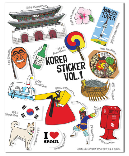 [Lucky Planet] Removable Luggage Reform Stickers - Korea