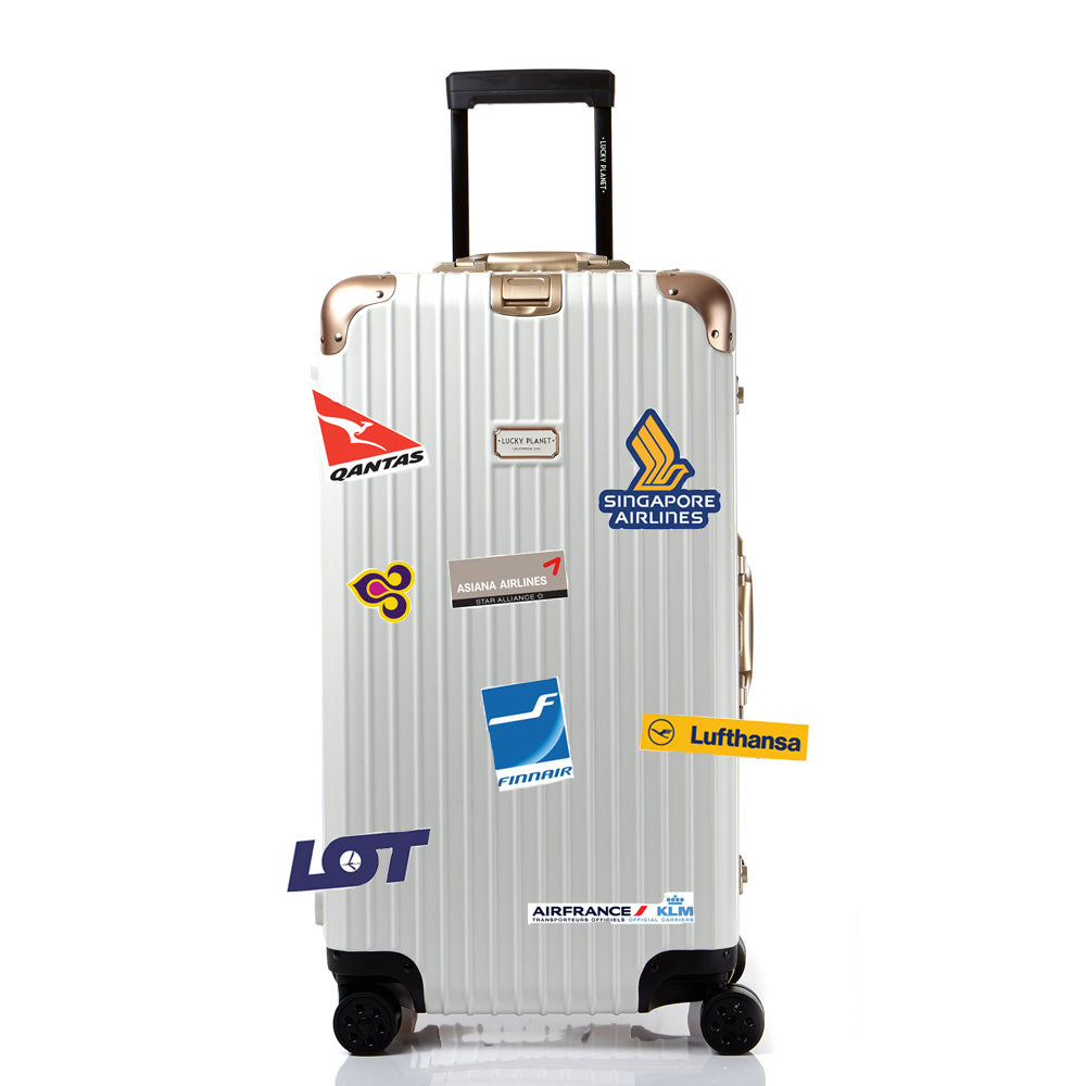 Premium Removable Luggage/Laptop Reform Sticker Set- Travel Airline 33 PCS/Waterproof/UVprotect