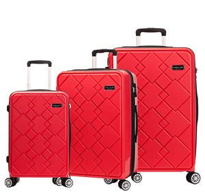 [Lucky Planet]  Canto Square 3 PCS (21inch, 24inch, 28inch) Ultra Strong Luggage Set