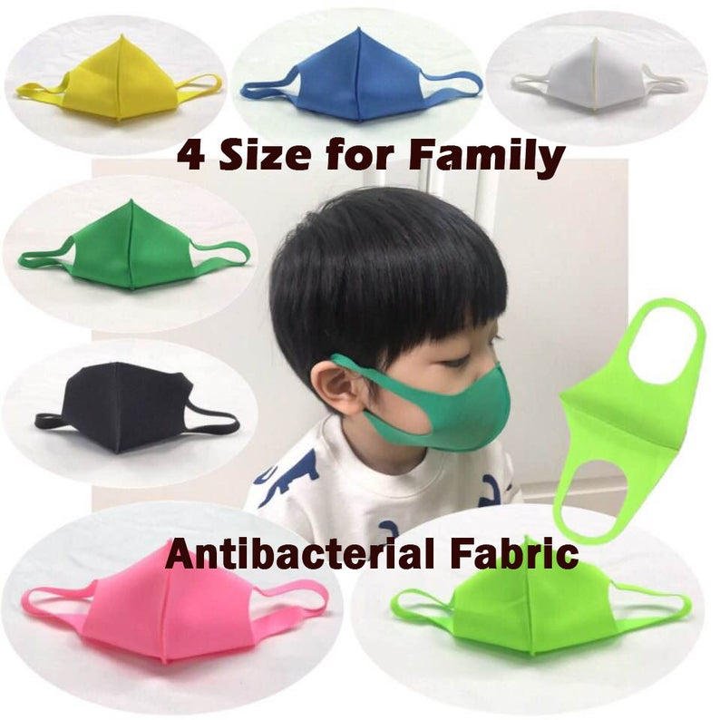 Antibacterial fabric made Washable Non-Medical Face Mask - Kids/ Adult Size - Quick dry / Ready to Ship