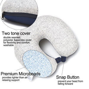 [Lucky Planet] Bon Voyage 2 in1 Travel Head Rest Neck Pillow _Whale