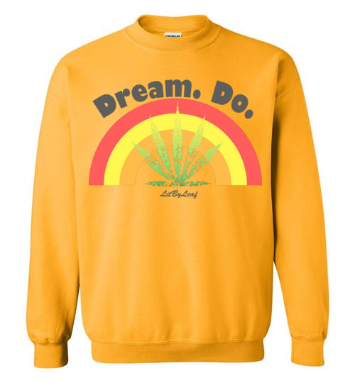 Dream Do Cannabis Unisex Crew Sweatshirt - Gold