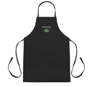 Budtender Cannabis Apron - Embroidered - Black