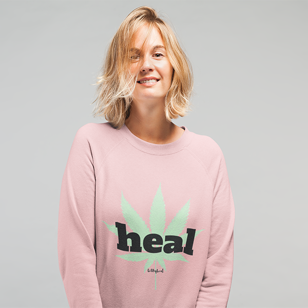 Heal Cannabis Unisex Crew Sweatshirt - Pink or White