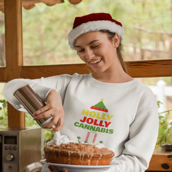 Holly Jolly Cannabis Long Sleeve Unisex Tee