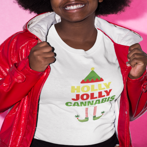 Holly Jolly Cannabis Unisex Short Sleeve Tee