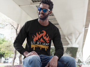 Lit By Leaf Unisex Flame Logo Long Sleeve Tee