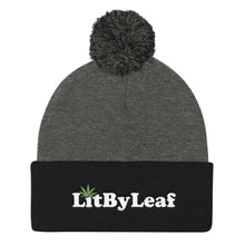 LitByLeaf Pom Pom Knit Embroidered Beanie - Multiple Colors