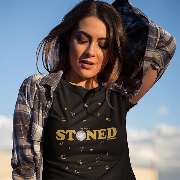 My Sign is Stoned Celestial Cannabis Unisex Short Sleeve Tee