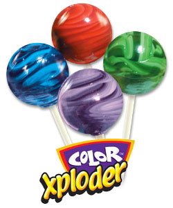 Color Xploder Lollipops