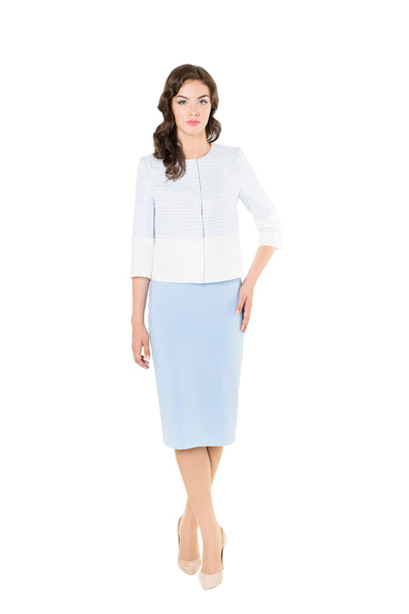 FLORENCE WHITE PENCIL SKIRT