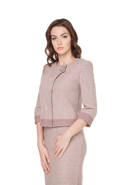 ELEANOR ONE-BUTTON WOOL JACKET
