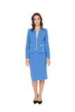 EDITH BLUE ZIPPER JACKET