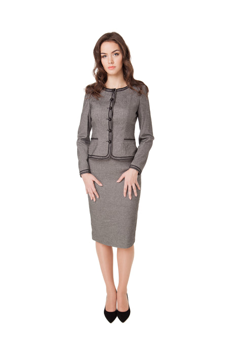 TWO TONE GREY SKIRT