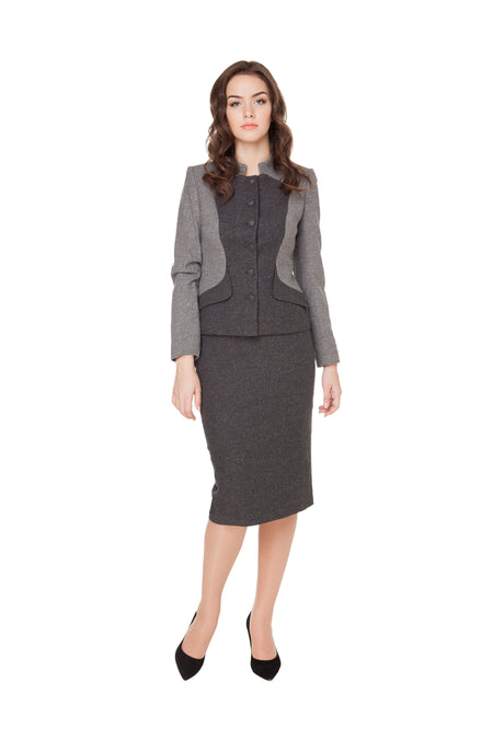 ELEANOR ONE BUTTON WOOL JACKET