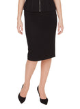 DANIELLE BLACK WOOL SKIRT
