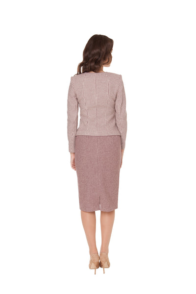 CAROLINE BOW WOOL JACKET