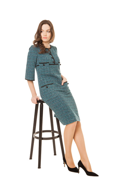 ALEXANDRA EMERALD POCKET DRESS