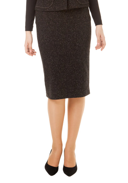 ELIZABETH WOOL BLACK SKIRT