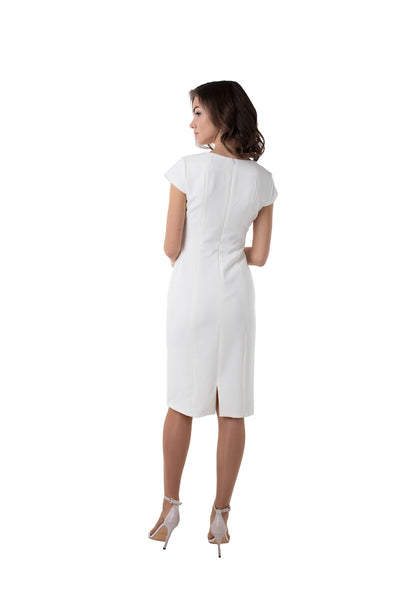 WHITE CAP SLEEVE DRESS