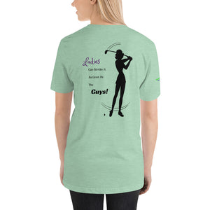 """Ladies Can Stroke It Like The Guys"" women's T-Shirt, green"