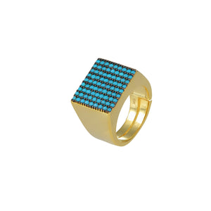 Fair Square Pinky Ring